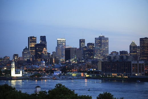 Canada, Quebec, Montreal, downtown skyline : Stock Photo