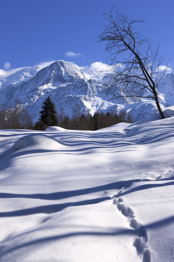 France, Alps, Haute Savoie, landscape in winter : Stock Photo