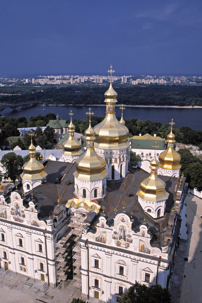 Stock Photo: 1609-10078 Dormition Cathedral, Kyiv-Pechersk Lavra, Kiev, Ukraine