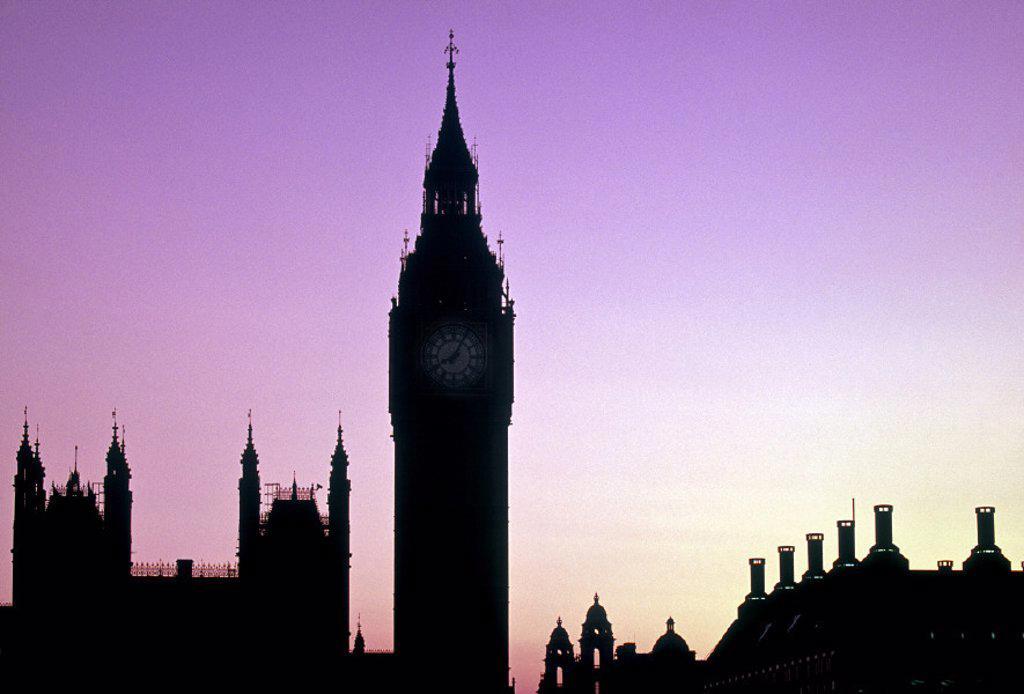 Big Ben, Houses of Parliament, London, England : Stock Photo