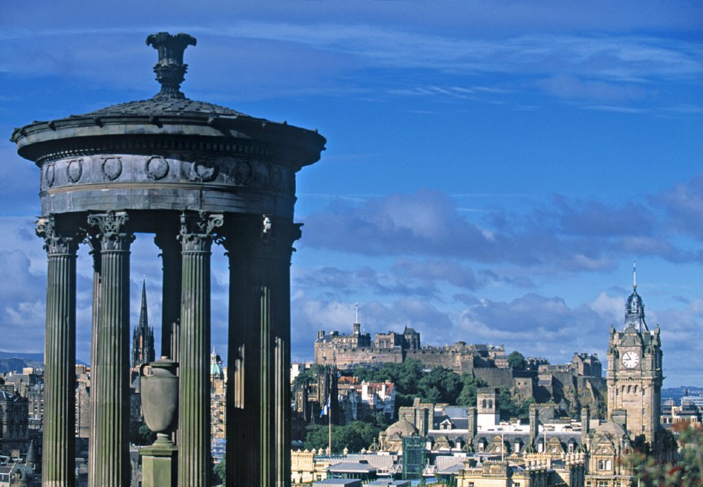 Stock Photo: 1609-10757 Stewart Monument, Calton Hill, Edinburgh, Scotland