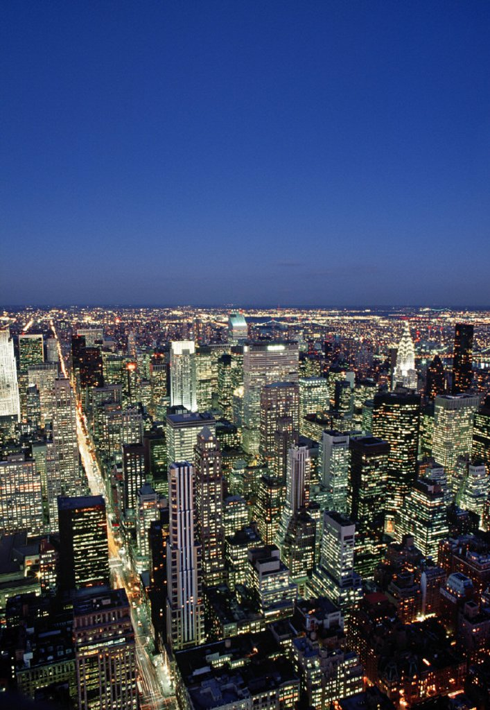 Stock Photo: 1609-10989 Manhattan Skyline, Manhattan, New York City, USA