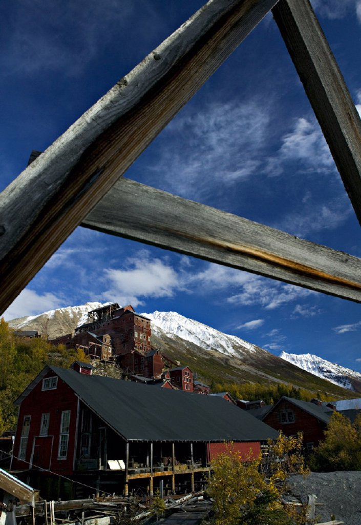 Stock Photo: 1609-11795 Kennecott Mill Town (Old copper mine), Alaska, USA