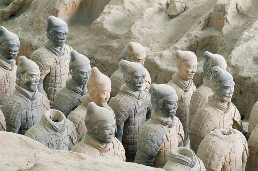 Stock Photo: 1609-12217 Terracotta Warriors / Terracotta Army / Battle Formation / Qin Dynasty, Xian, Shaanxi Province, China