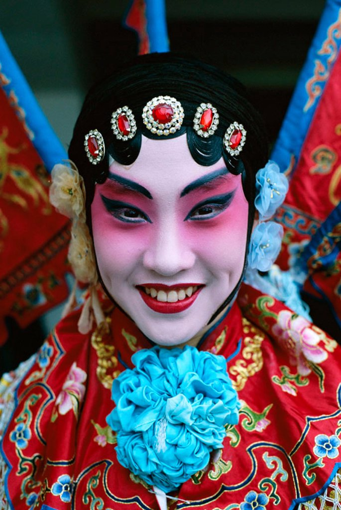 Stock Photo: 1609-12321 Chinese Opera (Beijing Opera) / Actor Dressed in Costume / Portrait, Beijing, China