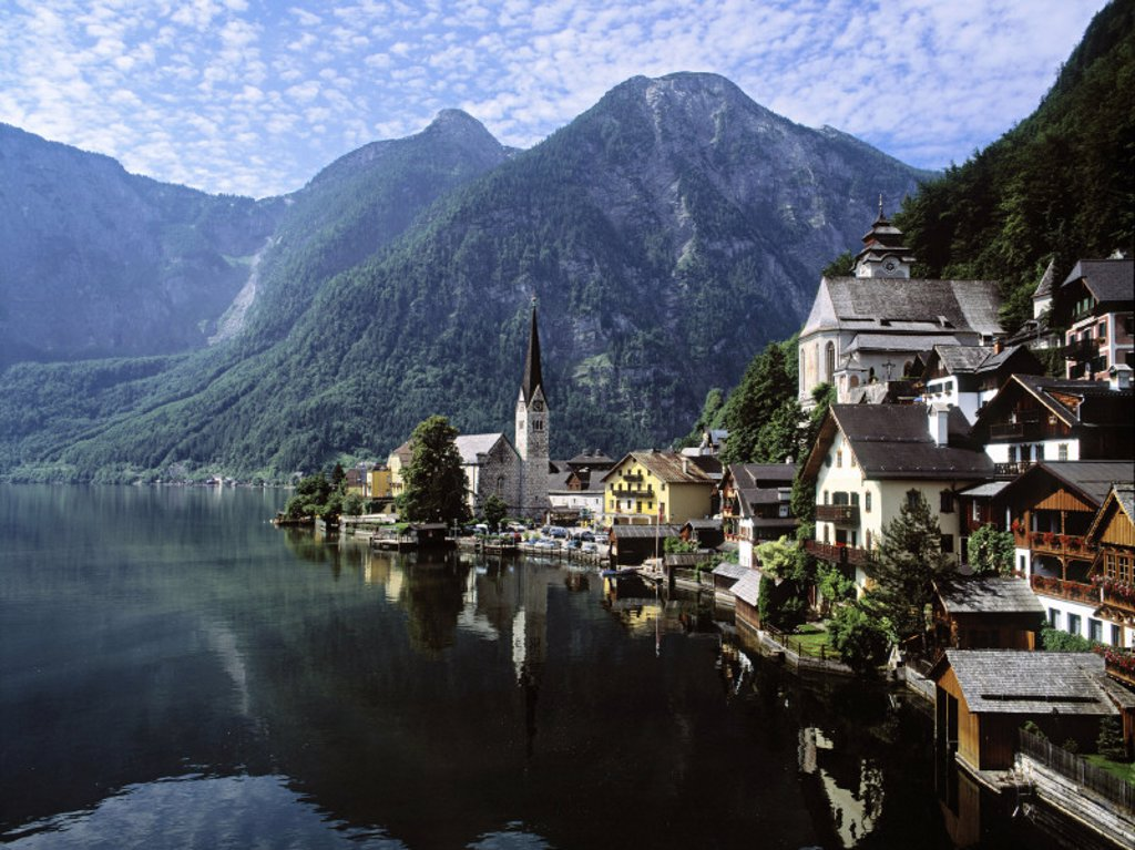 Stock Photo: 1609-1241 Hallstatt, Salzkammergut, Austria