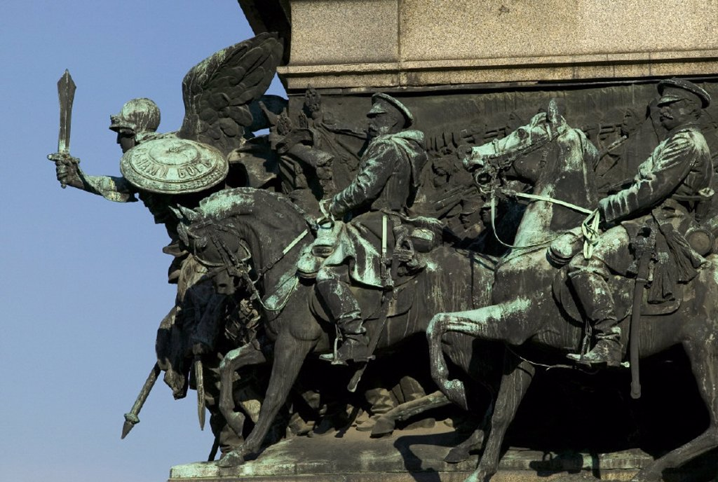 Stock Photo: 1609-1365 Monument to the King Liberator, Sofia, Bulgaria
