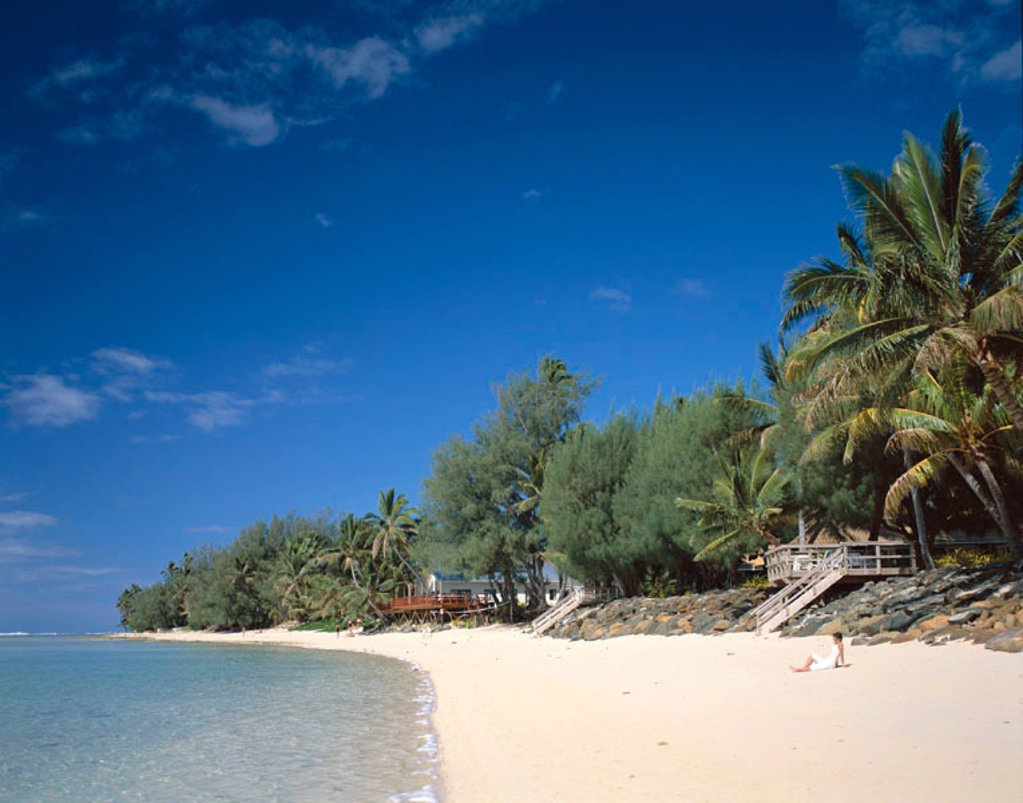 Stock Photo: 1609-13924 Muri Beach, Rarotonga, Polynesia / South Pacific, Cook Islands