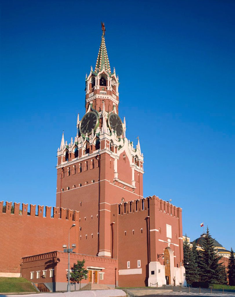 Kremlin / Saviour Tower (Spasskaya Tower), Moscow, Russia : Stock Photo