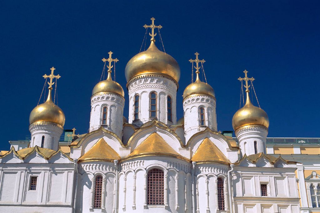 Stock Photo: 1609-13950 Kremlin / Annunciation Cathedral, Moscow, Russia