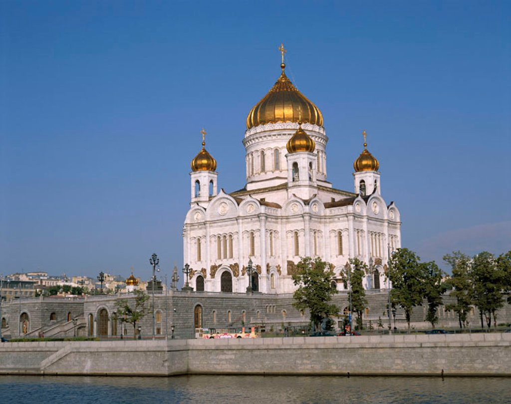 Stock Photo: 1609-13972 Church of Christ The Saviour & Moskva River, Moscow, Russia