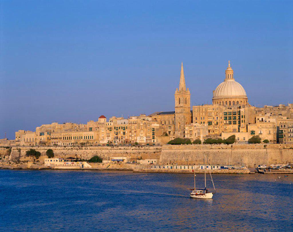 Stock Photo: 1609-14292 City Skyline, Valetta, Malta
