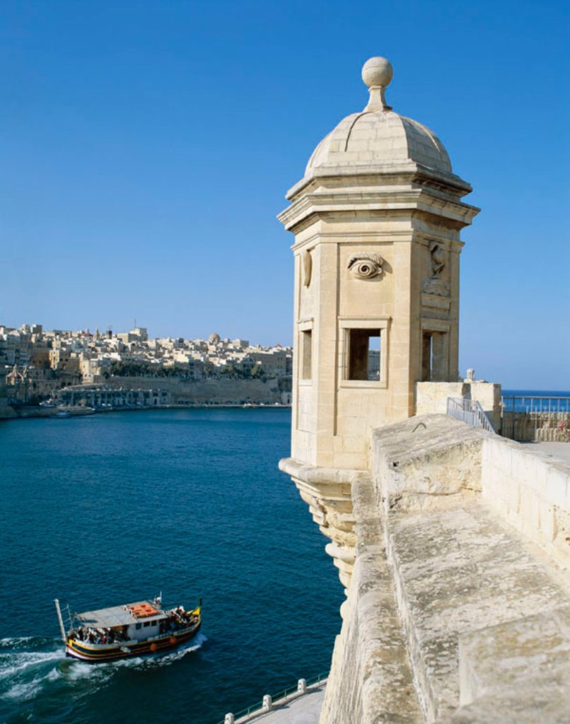 Stock Photo: 1609-14307 The Cottonera Senglea / The Vedetta, Valetta, Malta