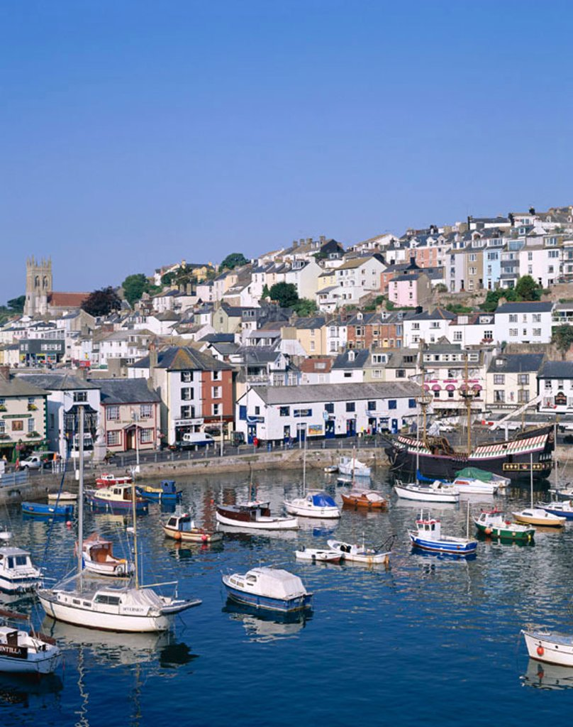 Stock Photo: 1609-16407 Harbour View, Brixham, Devon, England