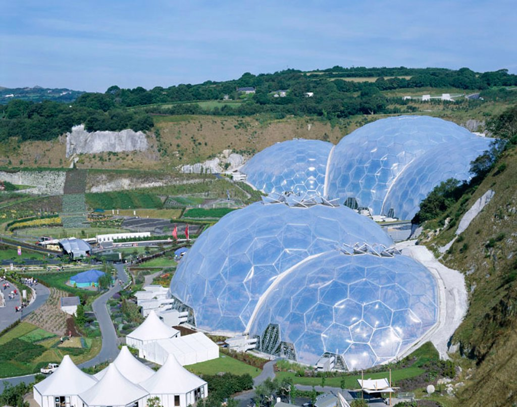 Stock Photo: 1609-16410 Eden Project, Cornwall, England