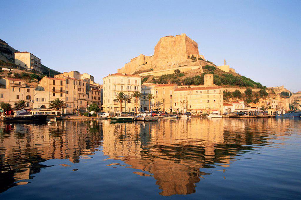 Stock Photo: 1609-16869 France, Corsica, Bonifacio Harbour