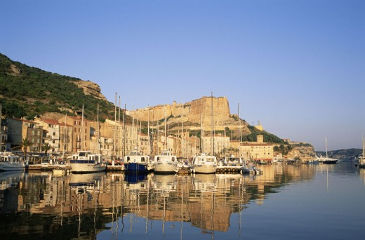 Stock Photo: 1609-16870 France, Corsica, Bonifacio Harbour