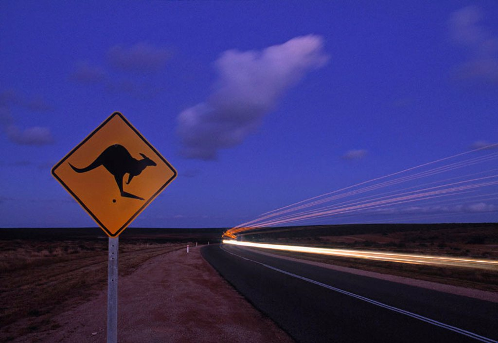 Road Sign, Western Australia, Australia : Stock Photo