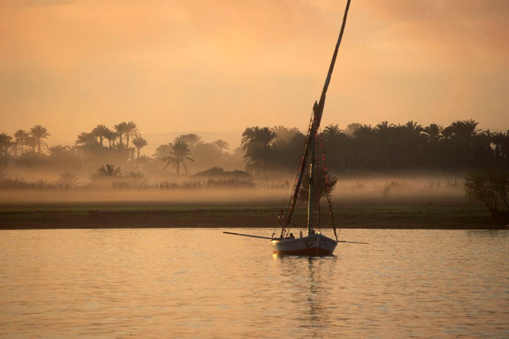 Stock Photo: 1609-17845 Felucca on the Nile, Luxor, Egypt