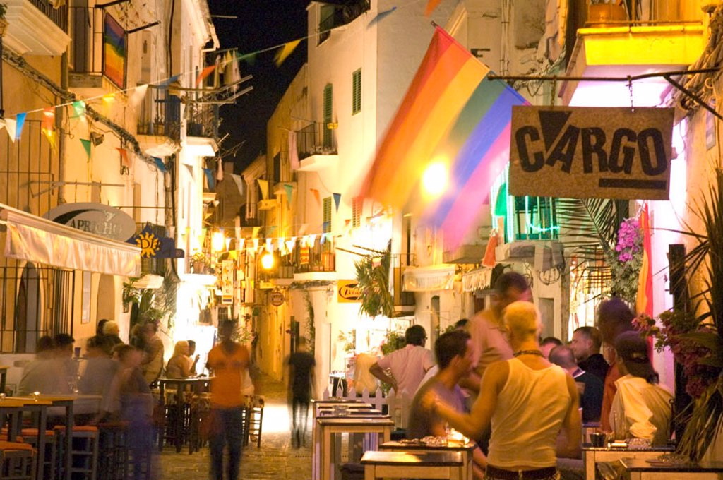 La Verge street, Ibiza Town, Ibiza, Spain : Stock Photo