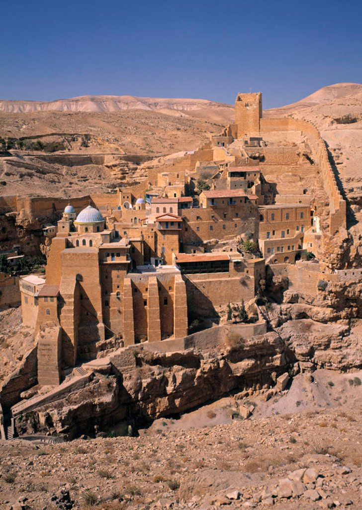 Stock Photo: 1609-18394 Mar Saba Monastery, Judean Desert, Israel