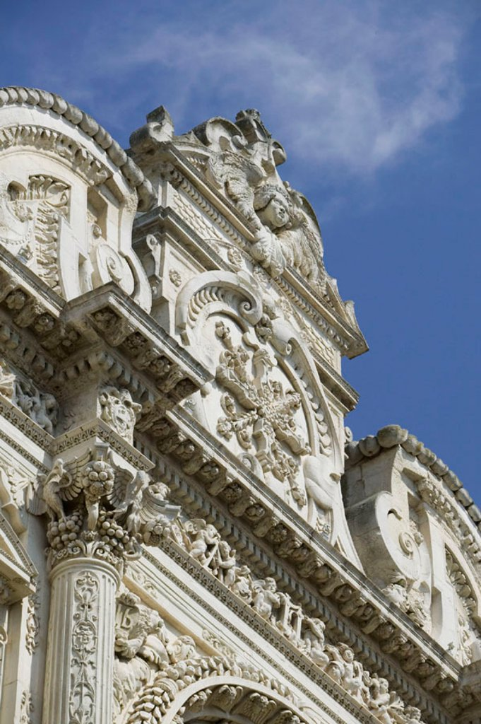 Stock Photo: 1609-18556 Baroque Details of Santa Croce Church, Lecce, Puglia, Italy