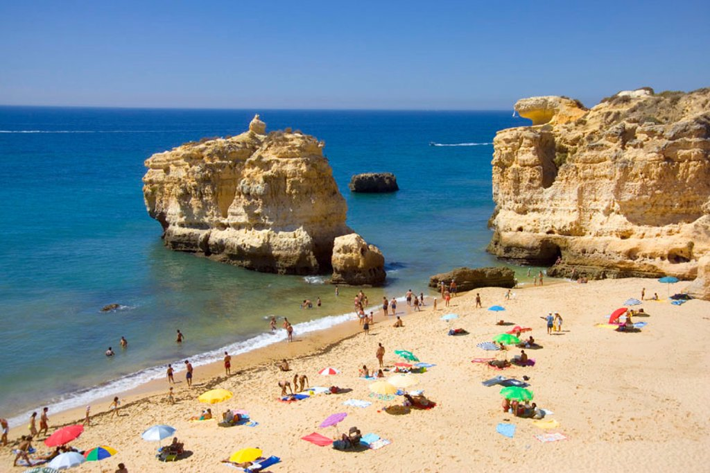 Praia San Raphael, Albufeira, Algarve, Portugal : Stock Photo