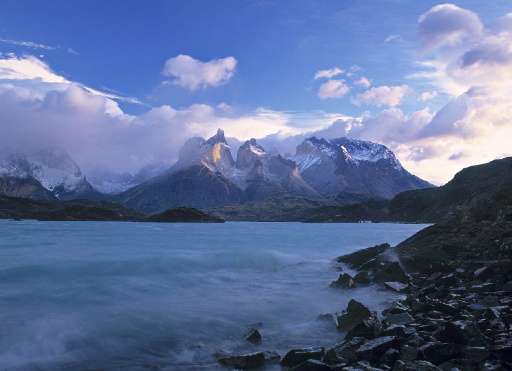 Stock Photo: 1609-2021 Torres del Paine, Patagonia, Chile