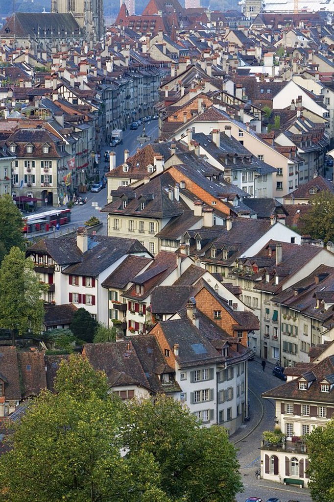 Old Town, Bern, Berner Oberland, Switzerland : Stock Photo