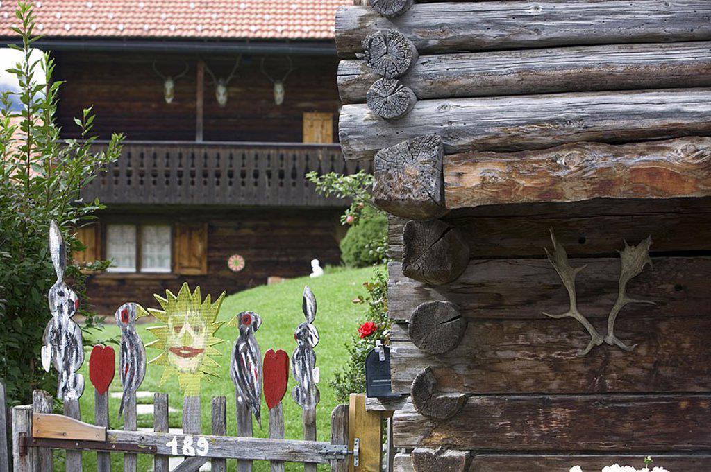 Stock Photo: 1609-20763 Chalets, Klosters, Graubunden, Switzerland