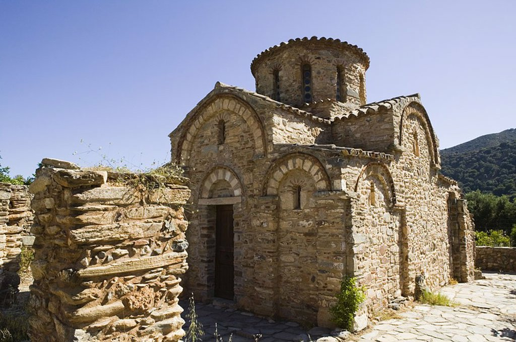 Byzantine Panayia Church, Fodele, Birthplace of El Greco, Iraklio Province, Crete, Greece : Stock Photo