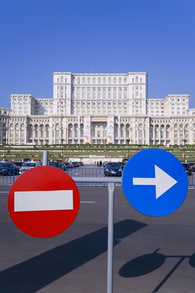 Palace of Parliament building, Bucharest, Romania : Stock Photo