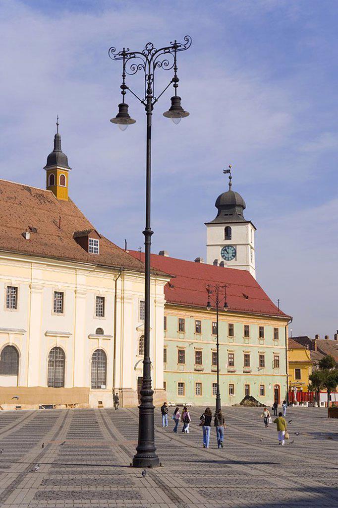 Stock Photo: 1609-21352 Piata Mare, Sibiu, Transylvania, Romania