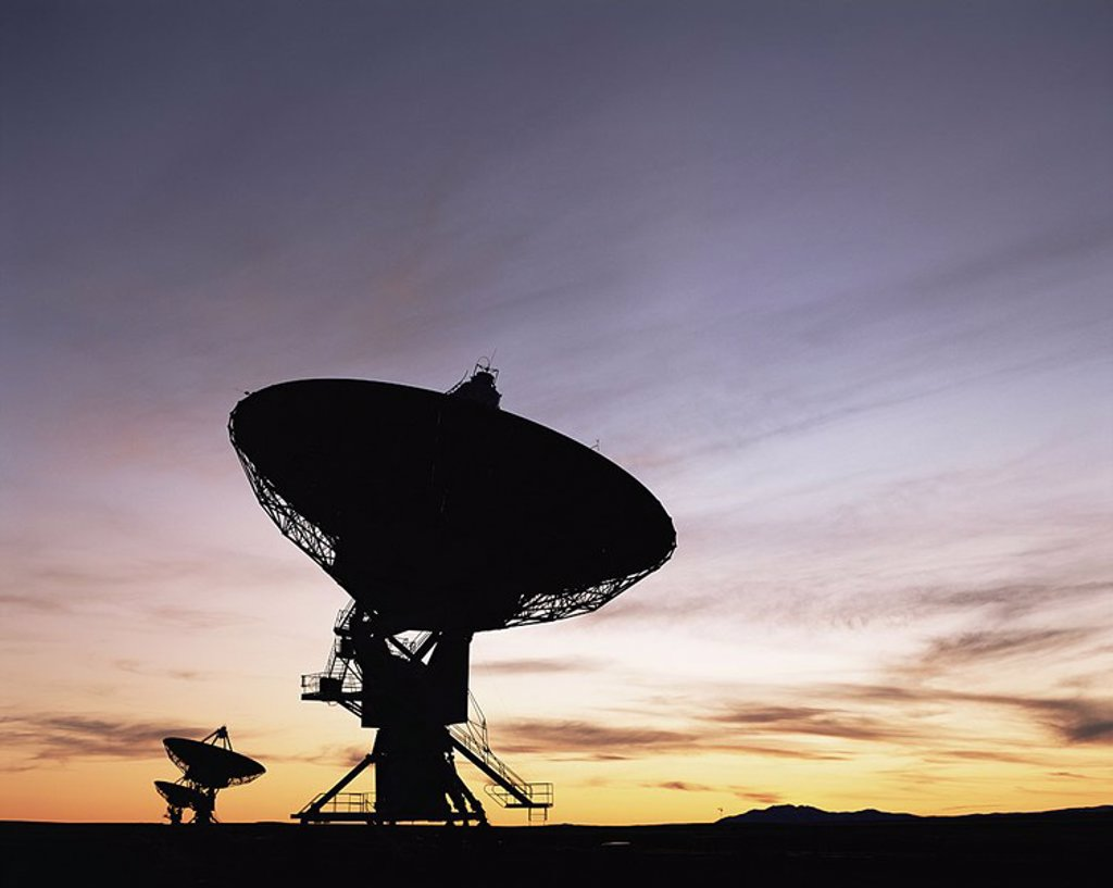Stock Photo: 1609-21658 U S A ,New Mexico,Socorro,The Very Large Array are Radio Telescopes