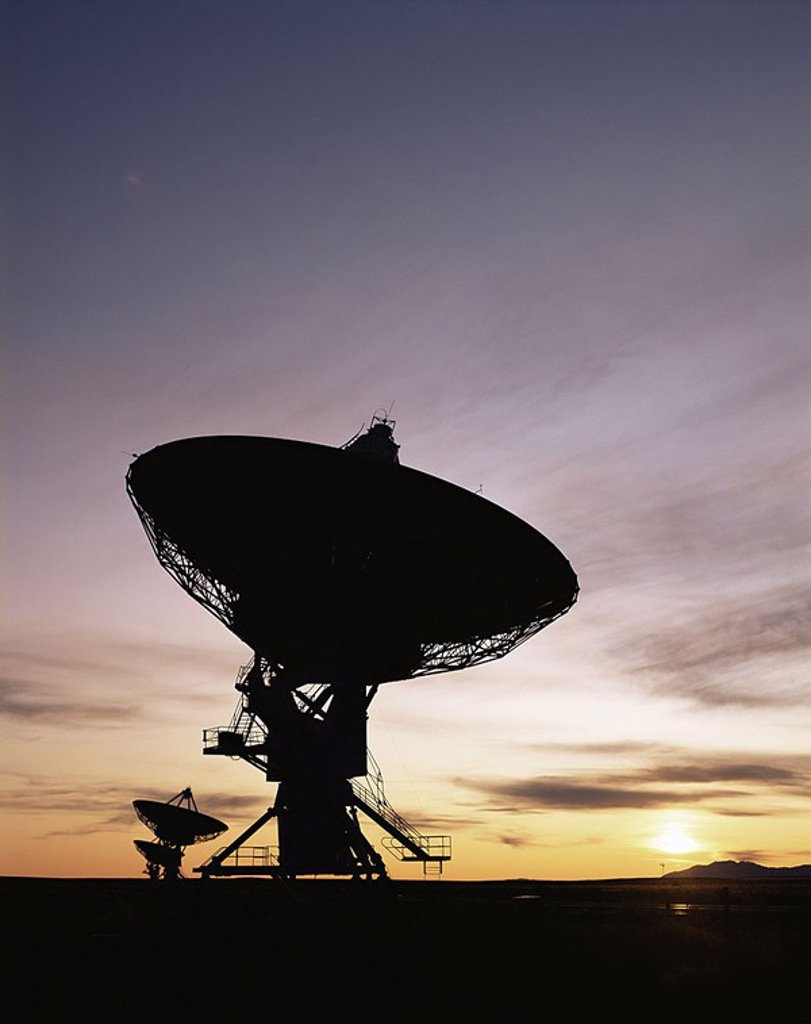 U S A ,New Mexico,Socorro,The Very Large Array are Radio Telescopes : Stock Photo