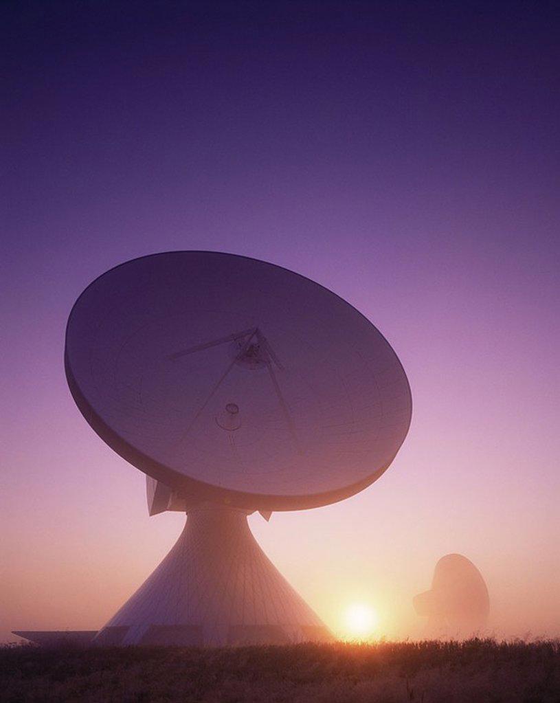 Stock Photo: 1609-21673 Germany,Baveria,Satellite Station at Raisting