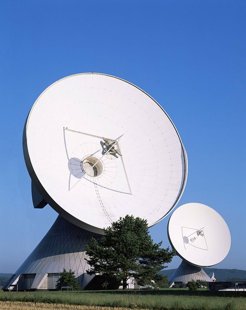 Stock Photo: 1609-21686 Germany,Baveria,Satellite Station at Raisting