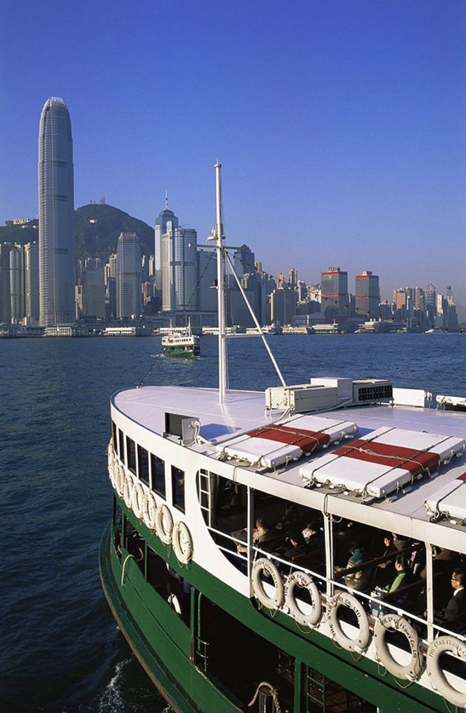 Stock Photo: 1609-22423 February 2007. China, Hong Kong, Star Ferry and City Skyline