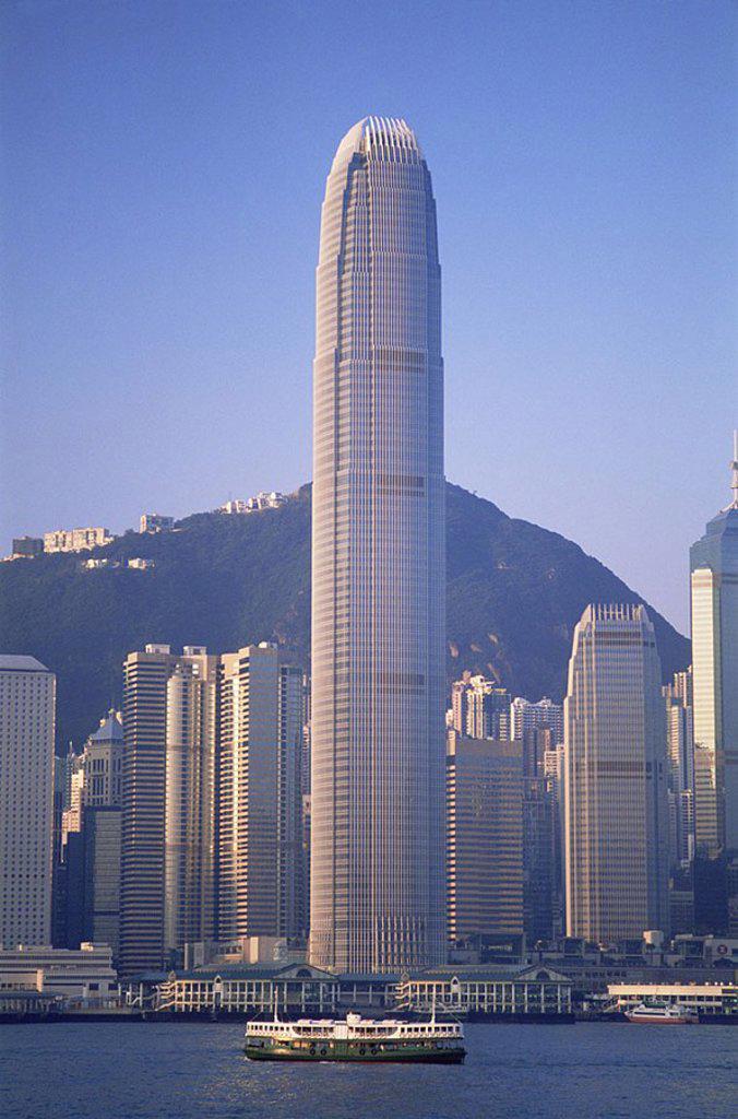 February 2007. China, Hong Kong, City Skyline : Stock Photo