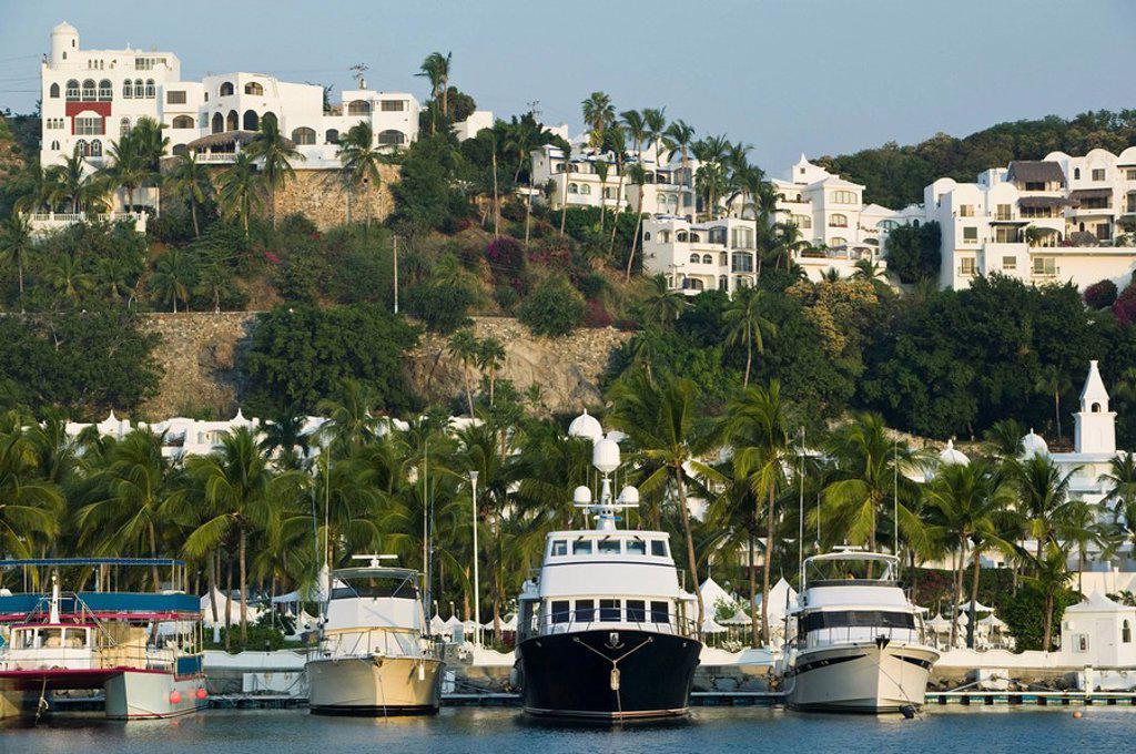 Stock Photo: 1609-23163 Mexico, Pacific Coast, Colima, Manzanillo, Brisas Las Hadas Resort Marina