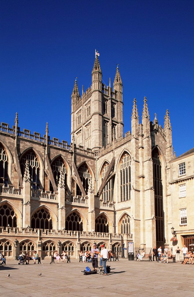 Stock Photo: 1609-24134 England, Somerset, Bath, Bath Cathedral