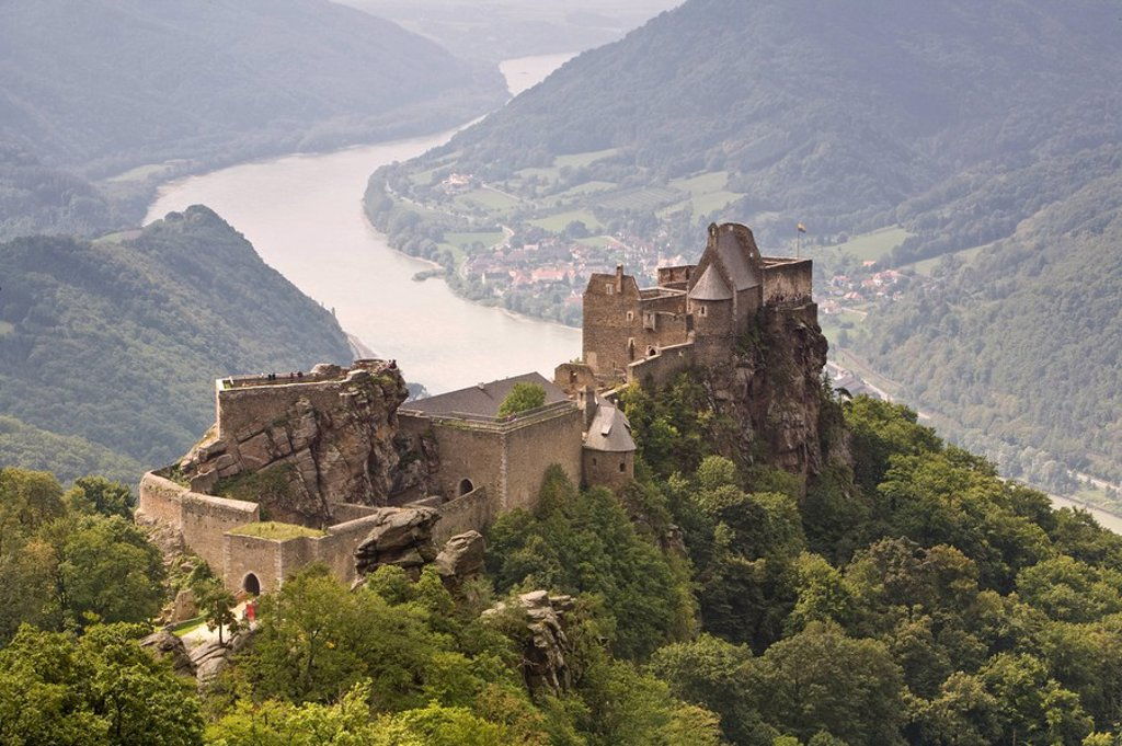 Stock Photo: 1609-24248 Burg Aggstein, Wachau, Lower Austria, Austria