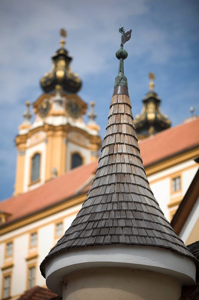 Stock Photo: 1609-24257 Roof Detail, Melk Abbey, Wachau, Lower Austria, Austria