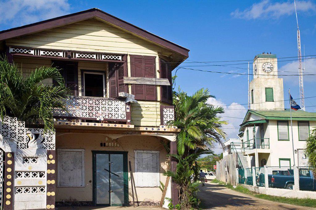 Belize, Dangriga : Stock Photo
