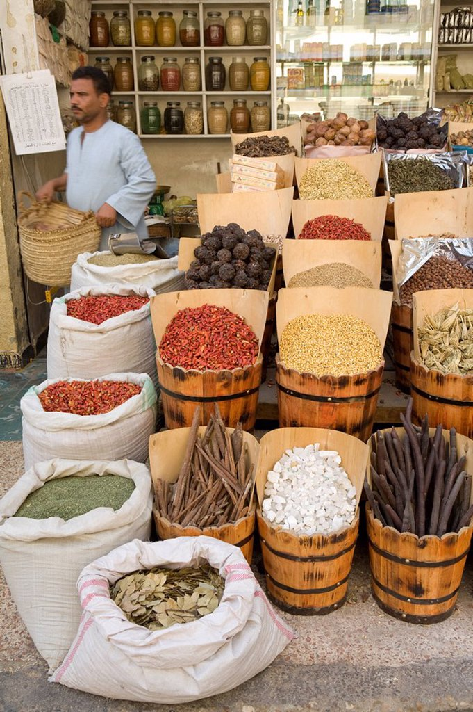 Stock Photo: 1609-24886 Spices at local market, Aswan, Egypt