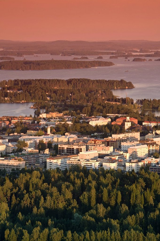 Stock Photo: 1609-24970 City Overview, Kuopio, Eastern Lakeland, Finland