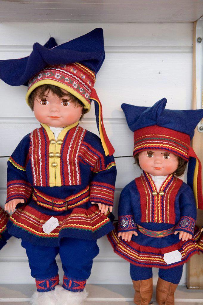 Stock Photo: 1609-24989 Saami Dolls, Lapland, Finland