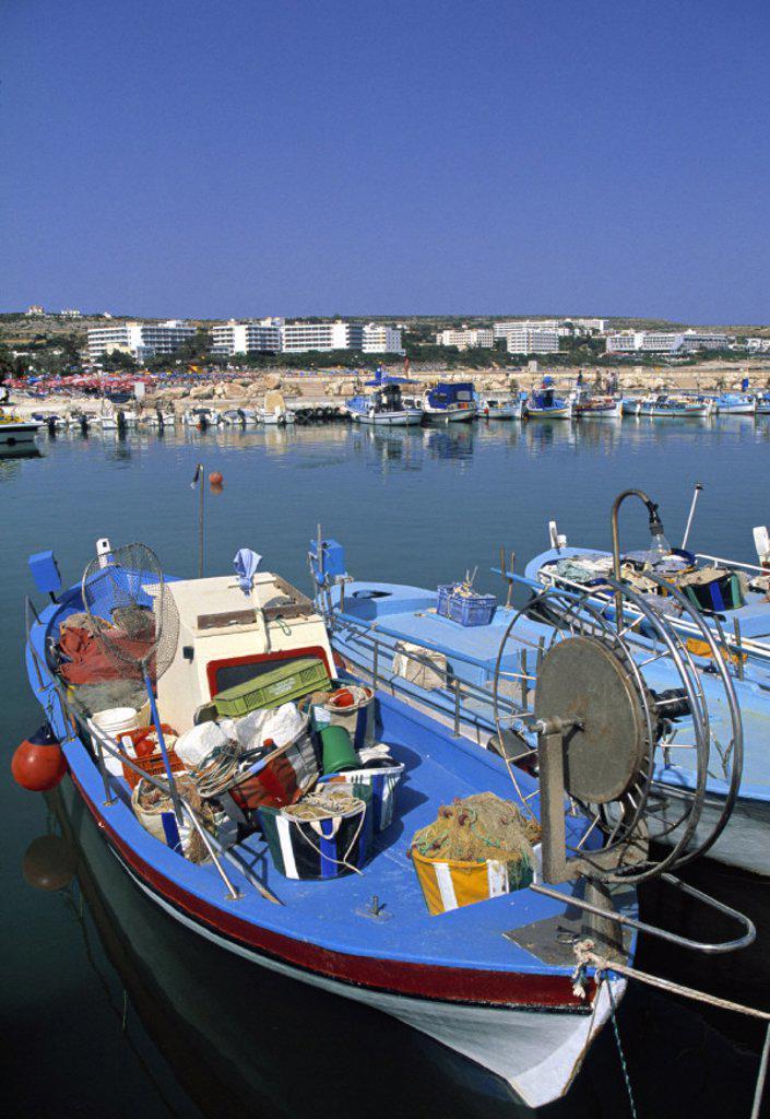 Stock Photo: 1609-2506 Liminaki Port, Greek Cyprus