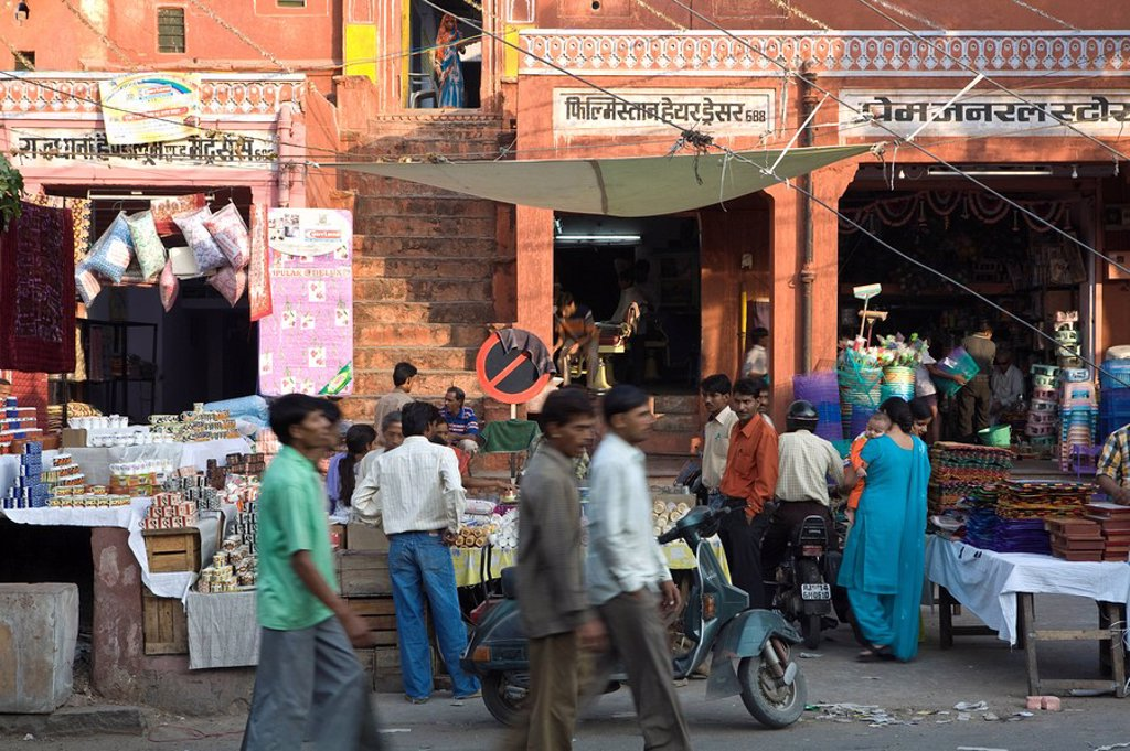 Stock Photo: 1609-25197 Tripolia Bazaar, Jaipur, Rajasthan, India