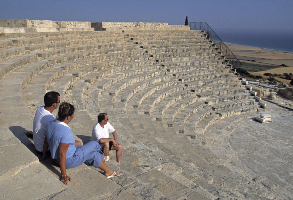 Roman Ampitheatre, Kourion, Limassol, Greek Cyprus : Stock Photo